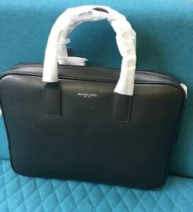 MICHAEL KORS MENS Harrison Leather Briefcase Black