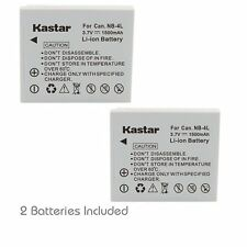 2x Kastar Battery for Canon NB-4L PowerShot SD1100 IS SD1400 IS TX1 ELPH 100 HS
