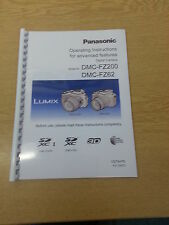 PANASONIC LUMIX DMC FZ200 FZ62 USER MANUAL INSTRUCTIONS PRINTED 220 PAGES A5
