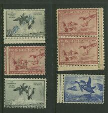 Lot Of 6 Federal Duck Stamps Errors Freaks & Oddities Stamps (Rw Efo 1)