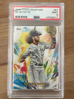 2020 Bo Bichette Topps Inception #57 RC Rookie PSA 9 *READ Cracked Slab at Top*