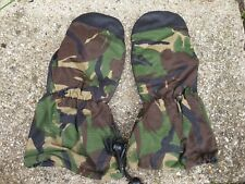 BRITISH Army DPM Camo Goretex Cold Weather Winter Lined Mittens SMALL