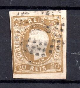 Portugal 1866 King Luis 20R SG38 good used MI90 Cat Val £100 WS20701