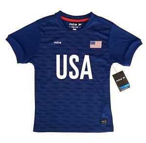 USA Youth Soccer Jersey Mitre Blue Youth Size S (8)