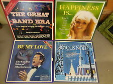 Lot of four vintage records box set-THE GREAT BAND ERA-HAPPINESS IS-BE MY LOVE