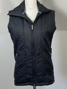 Ping Ladies Golf Gilet Bodywarmer Black Quilted Size 10 Jacket Sleeveless Logo