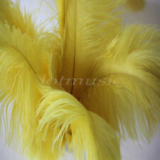 10 Pcs Natural Ostrich Feathers For Wedding Party Decorations Yellow 12~14 inch