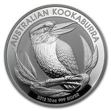10 UNZEN / OZ SILBER - KOOKABURRA 2012 - SILBERMÜNZE - SILBERBARREN 999/1000