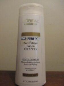 LOREAL AGE PERFECT ANTI FATIGUE LOTION CLEANSER MATURE SKIN 6.7 OZ