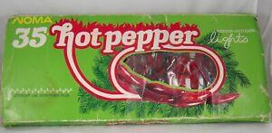 Noma 35 Hot Pepper Lights Vintage Tested & Working! Indoor Outdoor