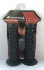 DIAMONDBACK BMX MUSHROOM TEAM GRIPS LARGE FLANGE WHITE BLACK 2 TONE DBXG100 PAIR