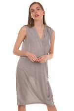 RRP €180 ACNE STUDIOS Stretch Draped Dress Size S Melange Made in Portugal
