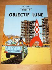 TINTIN POSTER LARGE - OBJECTIF LUNE / DESTINATION MOON - 70 x 50 cm MINT NEW