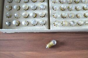 10 Stück DDR Kuppellinsenlampen Glühbirne 2,5V 0,2 A