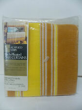 Sears Acapulco Stripe Pinch Pleated Cafe Rod Curtains NEW/Old Stock 48 x 36