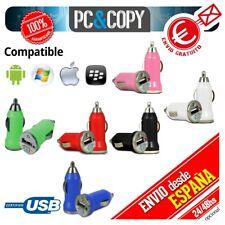 S652 Cargador mini mechero coche USB 1A para movil tablet colores car 12-24v 100
