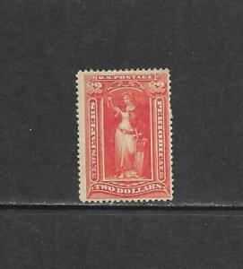 1895 US $2 Newspaper Periodical Stamp Issue Scott# PR108 mint OG CV $2250.00