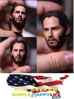 "custom 1/6 John wick head 2.0 Keanu Reeves for 12"" figure hot toys COOMODEL❶USA❶"