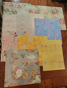 Vintage Gift Wrap Wedding Bridal Shower Wrapping Paper Lot