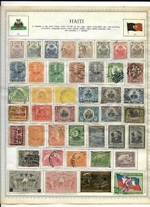 Haiti 6 Pages Unpicked 172 Stamps