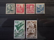 6x Timbres WURTEMBERG WURTTEMBERG occupation zone 1947 Neufs New MH / *
