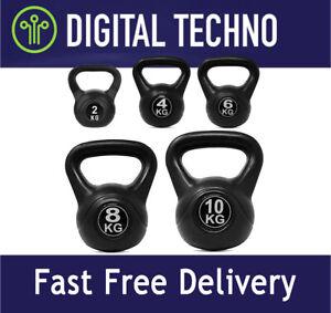 Vinyl Kettlebell Weight Training Fitness Home Gym Equipment 2kg 4kg 6kg 8kg 10kg
