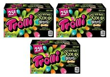 3x Trolli Extreme Sour Bites Fruitz Flavored Candies American Sweets