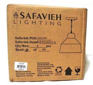 Safavieh Lighting PND4031A Dajana Pendant Nickel-Light Brown
