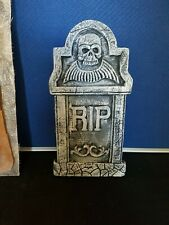 LATEX AND FIBREGLASS JACKET OF A TOMBSTONE GARDEN ORNAMENT (4)