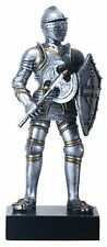 """GOTHIC KNIGHT with AXE Statuette, 9"""" Tall, Hand-Painted, by Summit"""