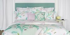 NWT NEW Yves Delorme Evasion Menthe Glace King flat sheet 106x116""