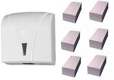 Handtuchpapierspender WEISS Papierspender Handtuchspender 960 Blatt Papier grün
