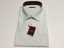 RODRIGO camicia uomo linea calibrato bianca mezza manica 100% cotone 50-20