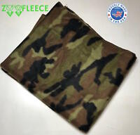 "ZooFleece Green Miltary Camouflage Hunting 60X60"" Linen Blanket Throw Quilt"