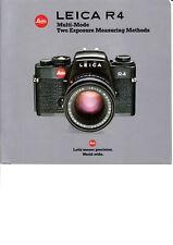 GENUINE ORIGINAL LEICA PRODUCT INFORMATION BROCHURE FOR 1984 R4 FILM CAMERA