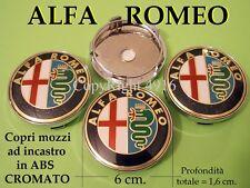 ALFA ROMEO 6 cm 60 mm COPRI MOZZI MOZZO CERCHI TAPPI COPPETTE Cup Wheels