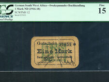 German South West Africa(Namibia): P-12,1 Mark ,1916-18  * PCGS F 15 *