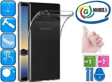 Funda gel transparente carcasa para Samsung Galaxy Note 8 kit limpieza