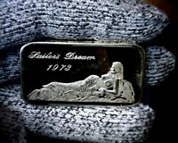 Rare 1973 Sailors Dream Limited Mint Silver Art 1 oz. Bar .999 Fine
