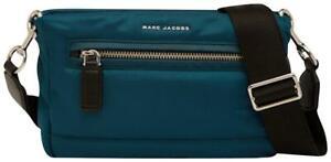 NWT Marc Jacobs Messenger Nylon Polyester Cross Body Bag, Teal