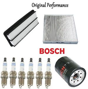 Tune Up Kit Cabin Air Oil Filters Spark Plugs for Honda Accord V6; 3.0L 06-07