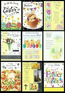 QUALITY EASTER CARD ~ FAMILY AND FRIENDS ~SOMETHING FOR EVERYONE ONLY 99p each