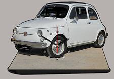 AUTO MINIATURA, FIAT 500-01, AUTO IN OROLOGIO MINIATURA