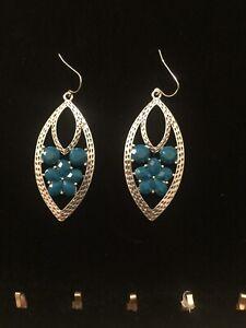 Premier Designs Jewelry HAUTE POP Antique Silver Plated Acrylics Earrings