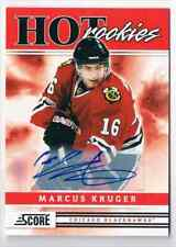 2011-12 SCORE HOT ROOKIES SIGNATURE SP MARCUS KRUGER ROOKIE AUTO CHICAGO