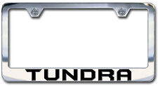 NEW Toyota Tundra Chrome License Plate Frame Engraved Block Letters (Set of 2)