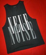 """All Saints """"Noise Vest"""" Vintage Black Graphic T-Shirt Top Tee Vest M Medium"""