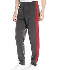 Puma Men's Contrast Pants Cuffed Grey/Red 838607 Size XL NEW with tag