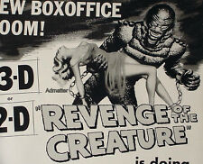 REVENGE OF THE CREATURE 1955 ORIG. PROMO MOVIE AD POSTER JOHN AGAR LORI NELSON