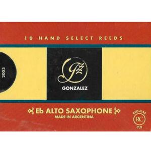 Gonzalez Eb Alto Saxophone Reeds Strength 1.5, Box of 10